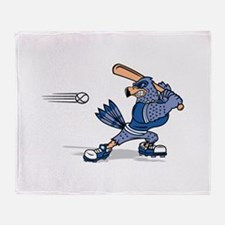 blue jay baseball Throw Blanket