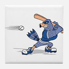 blue jay baseball Tile Coaster