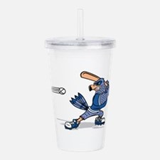 blue jay baseball Acrylic Double-wall Tumbler