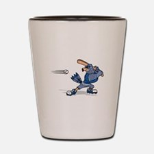 blue jay baseball Shot Glass