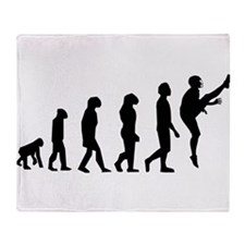 Football Punter Evolution Throw Blanket