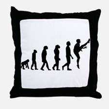 Football Punter Evolution Throw Pillow