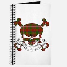 MacKinnon Tartan Skull Journal