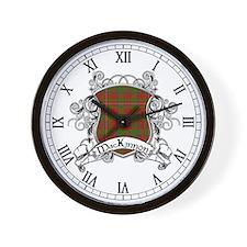 MacKinnon Tartan Shield Wall Clock