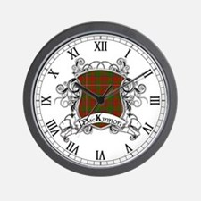 MacKinnon Tartan Shield Wall Clock