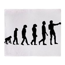 Boxing Evolution Throw Blanket