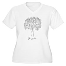 Give Thanks Tree Plus Size T-Shirt