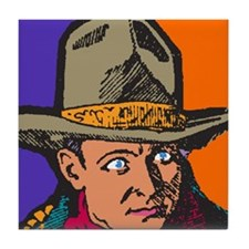 Movie Cowboy #2 Tile Coaster