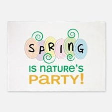 Natures Party 5'x7'Area Rug