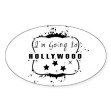 Im going to hollywood Oval Decal