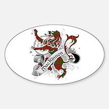 MacKinnon Tartan Lion Sticker (Oval)