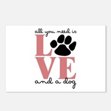 Love And A Dog Postcards (Package of 8)