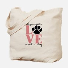 Love And A Dog Tote Bag