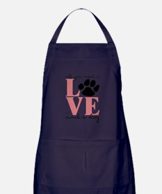 Love And A Dog Apron (dark)
