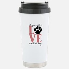 Love And A Dog Travel Mug