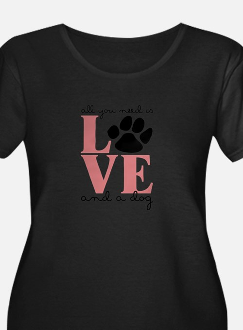 Love And A Dog Plus Size T-Shirt