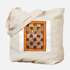 Checkerboard Wheat Tote Bag