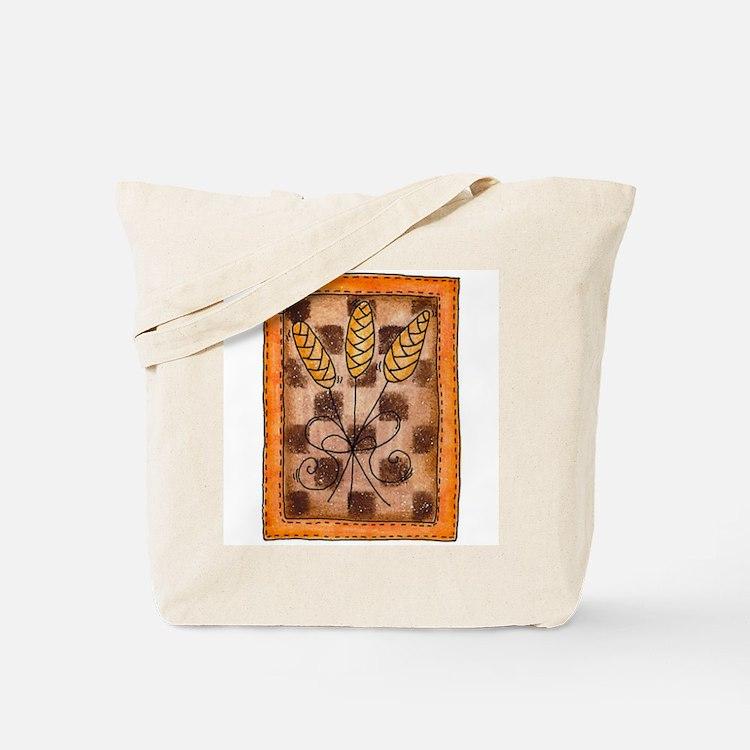 Checkerboard Wheat Tote Bag