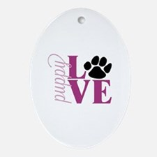 Puppy Love Ornament (Oval)