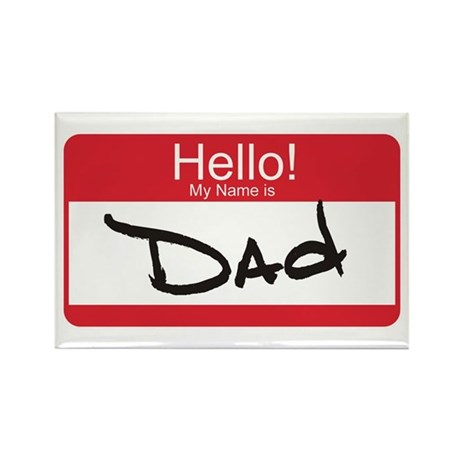 Hello My Name is Dad Tag Rectangle Magnet (10 pack