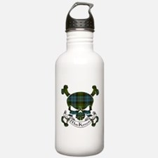 MacKenzie Tartan Skull Water Bottle