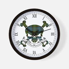 MacKenzie Tartan Skull Wall Clock