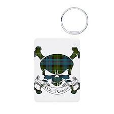 MacKenzie Tartan Skull Keychains