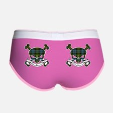 MacKenzie Tartan Skull Women's Boy Brief