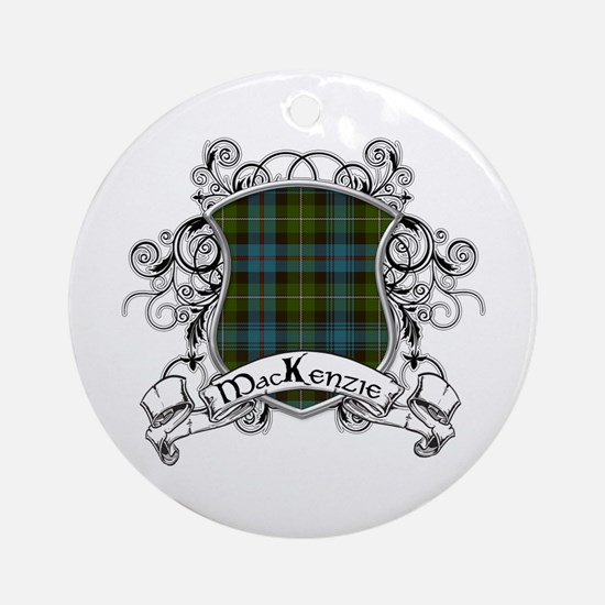 MacKenzie Tartan Shield Ornament (Round)