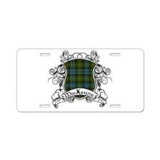 MacKenzie Tartan Shield Aluminum License Plate
