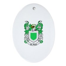 ST PAUL Coat of Arms Oval Ornament
