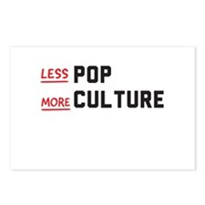 less POP more CULTURE Postcards (Package of 8)