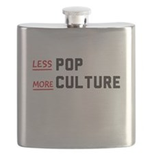 less POP more CULTURE Flask