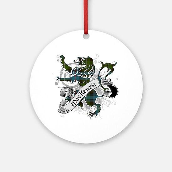MacKenzie Tartan Lion Ornament (Round)