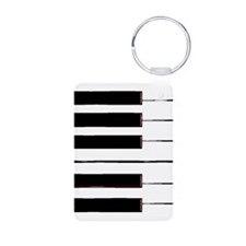 One Octave Aluminum Photo Keychain