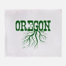 Oregon Roots Throw Blanket