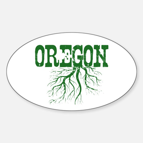Oregon Roots Sticker (Oval)