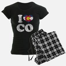 I heart Colorado Flag CO Pajamas