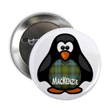 "MacKenzie Tartan Penguin 2.25"" Button"