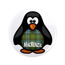 "MacKenzie Tartan Penguin 3.5"" Button"