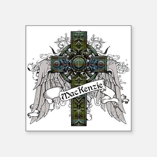 "MacKenzie Tartan Cross Square Sticker 3"" x 3"""