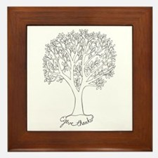 Give Thanks Tree Framed Tile