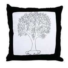 Give Thanks Tree Throw Pillow