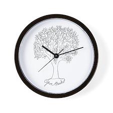 Give Thanks Tree Wall Clock