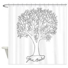 Give Thanks Tree Shower Curtain