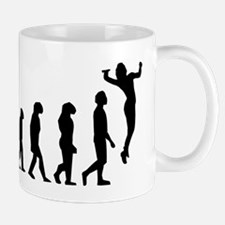 Volleyball Serve Evolution Mugs