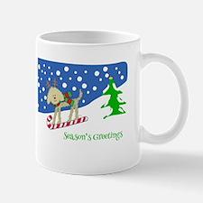 Xmas Goldendoodle Reindeer Mug