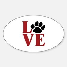Love Paw Decal