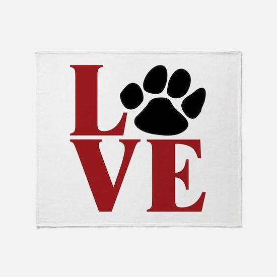 Love Paw Throw Blanket