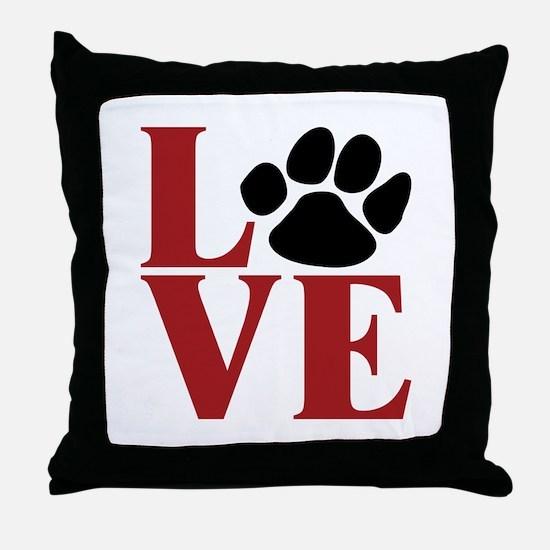 Love Paw Throw Pillow